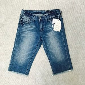 Seven7 Beach Bum Denim Shorts